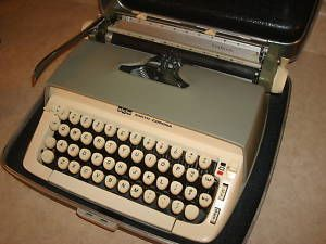 Smith Corona Green GALAXIE Typewriter