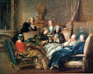 A reading of Molière, Jean François de Troy, about 1728