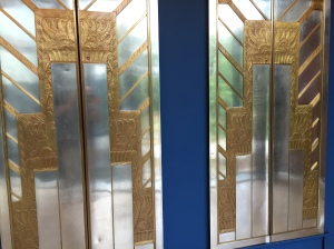 Completely random, but cool - a set of Art Deco elevator doors!
